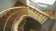 Лестницы: деревянные,  кованые,  из нержавеющей стали. - foto 0