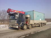 Услуги Бортового Грузовика Кран 3т борт 10 тонн 9 метров Контейнеровоз - foto 0